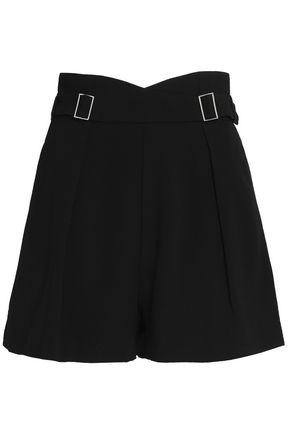 ZIMMERMANN Buckle-embellished pleated cady shorts