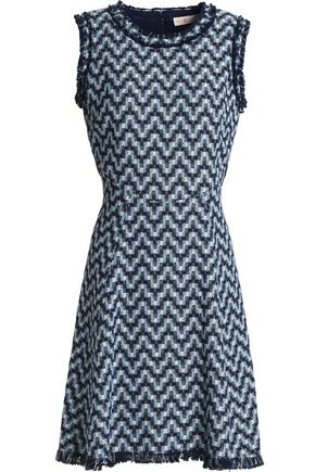 TORY BURCH Frayed cotton-jacquard dress