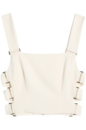 ZIMMERMANN Cropped cutout crepe top