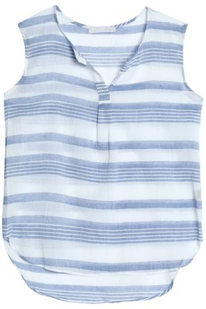 KAIN Striped cotton-gauze top