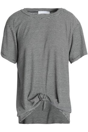 KAIN Knotted striped jersey T-shirt