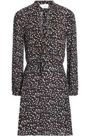 ZIMMERMANN Cavalier pussy-bow floral-print crepe mini dress