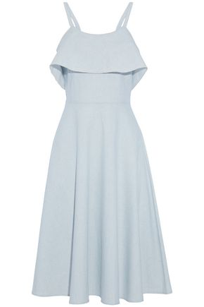 KAIN Layered cotton-gauze midi dress