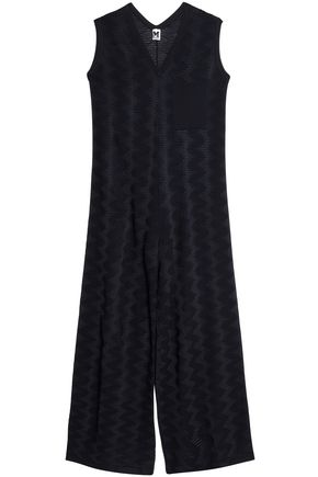 M MISSONI Wool-blend jacquard-knit jumpsuit