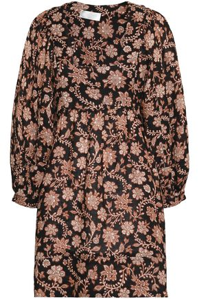 ZIMMERMANN Floral-print linen mini dress