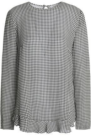 ZIMMERMANN Gingham crepe blouse