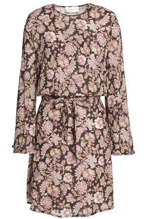 ZIMMERMANN Bowerbird floral-print crepe mini dress