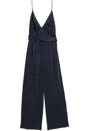 ZIMMERMANN Cropped washed-silk jumpsuit