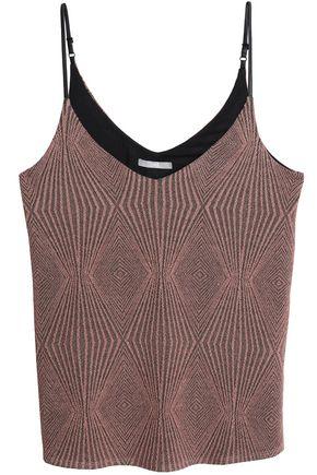 TART COLLECTIONS Metallic jacquard-knit top