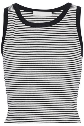 KAIN Striped ribbed-knit top