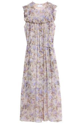 ZIMMERMANN Ruffle-trimmed floral-print silk-georgette midi dress