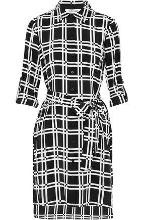 DIANE VON FURSTENBERG Checked silk mini dress
