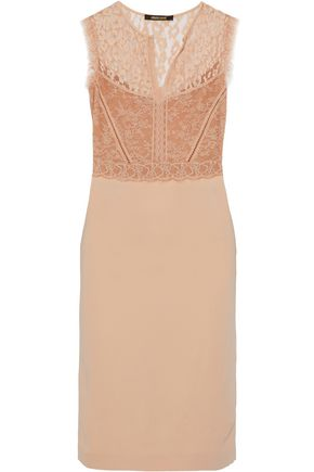 ROBERTO CAVALLI Lace and cady dress