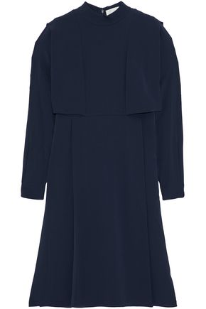 MIKAEL AGHAL Layered pleated silk-crepe de chine dress