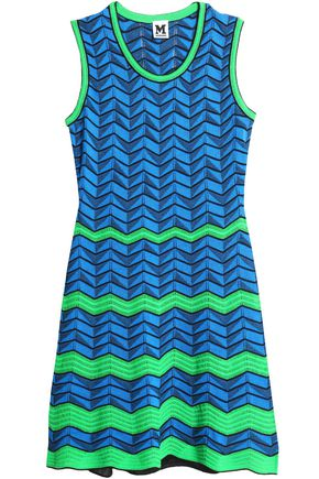 M MISSONI Cotton-blend crochet-knit mini dress