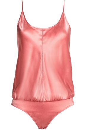 T by ALEXANDER WANG Silk-satin bodysuit