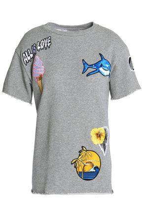 STELLA McCARTNEY Appliquéd mélange cotton-terry T-shirt
