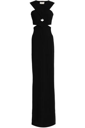 SOLACE LONDON Cutout crepe gown