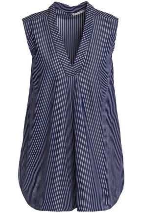 STELLA McCARTNEY Striped cotton-poplin tunic