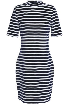 T by ALEXANDER WANG Striped chenille mini dress