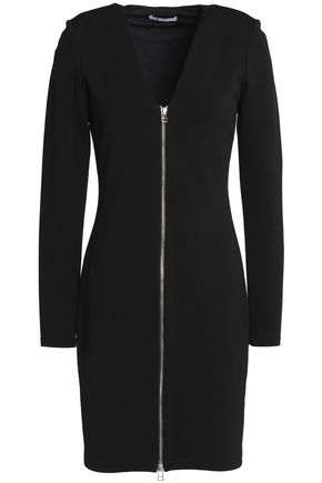 T by ALEXANDER WANG Zip-detailed stretch-jersey mini dress
