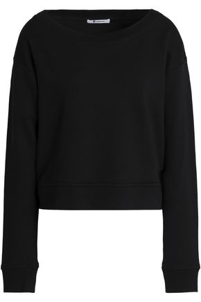 T by ALEXANDER WANG Mélange cotton-blend sweatshirt