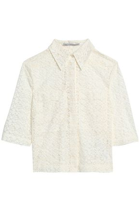 STELLA McCARTNEY Cotton-blend lace shirt