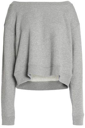 T by ALEXANDER WANG Mélange cotton-blend sweatshirt
