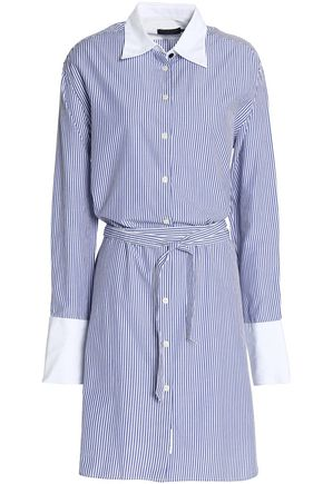 RAG & BONE Striped cotton and silk-blend poplin shirt dress