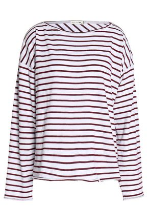 RAG & BONE Striped cotton-blend top