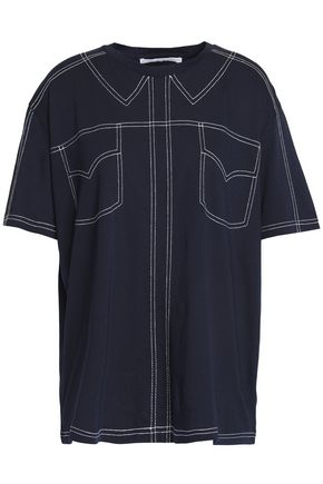 STELLA McCARTNEY Topstitched cotton-jersey T-shirt