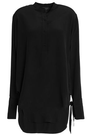 RAG & BONE Cutout silk tunic