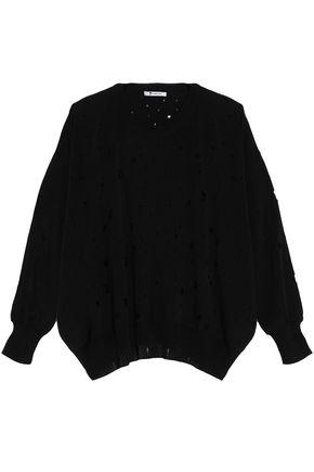 T by ALEXANDER WANG Distressed terry sweatshirt