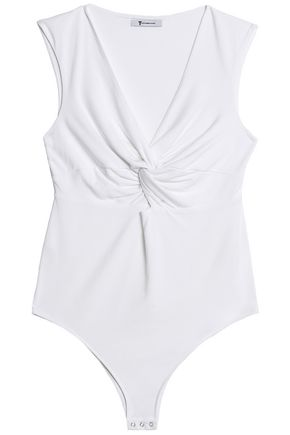 T by ALEXANDER WANG Cutout twisted stretch-modal jersey bodysuit