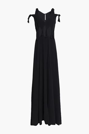 ROSETTA GETTY Knotted cutout crepe gown