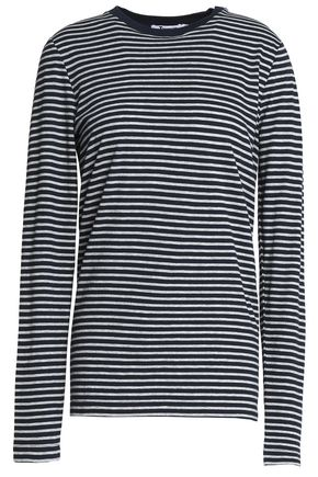T by ALEXANDER WANG Striped cotton-jersey top