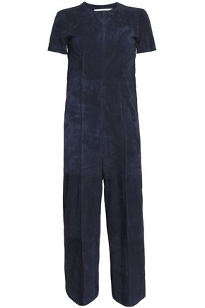 ROSETTA GETTY Cropped suede jumpsuit