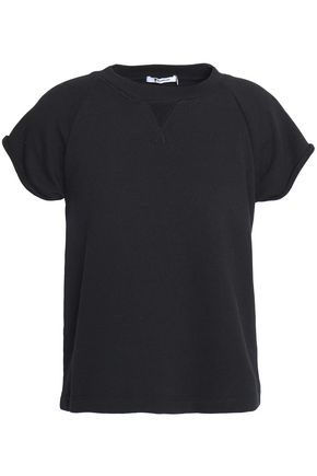 T by ALEXANDER WANG Mélange cotton-blend terry T-shirt