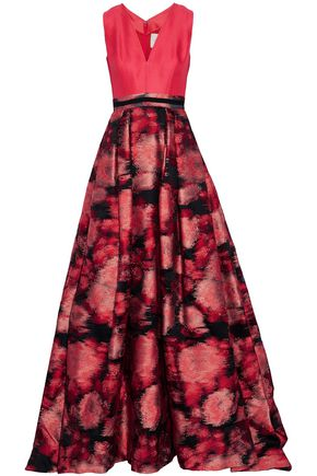 CAROLINA HERRERA Woven-paneled jacquard gown