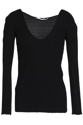 ROSETTA GETTY Ribbed-knit top