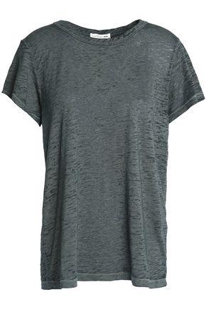RAG & BONE/JEAN Mélange devoré-velvet T-shirt