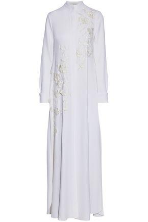 CAROLINA HERRERA Embellished silk-blend maxi dress