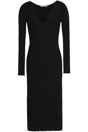 ROSETTA GETTY Ribbed-knit midi dress
