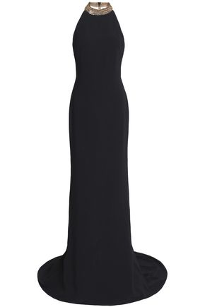 STELLA McCARTNEY Chain-embellished crepe gown