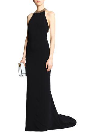 21de21d2d2c8 STELLA McCARTNEY Chain-embellished crepe gown