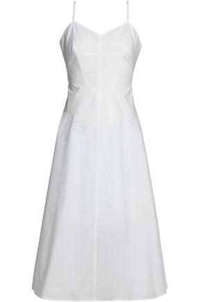 T by ALEXANDER WANG Flared cotton-poplin dress
