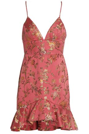 ZIMMERMANN Cavalier fluted brocade mini dress