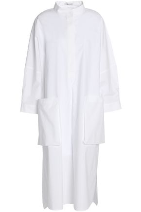 T by ALEXANDER WANG Cotton-poplin midi shirt dress