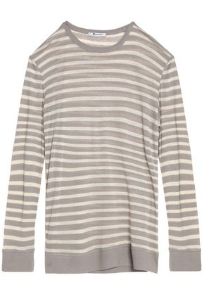 T by ALEXANDER WANG Striped stretch-jersey top