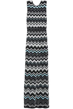 M MISSONI Metallic crochet-knit maxi dress